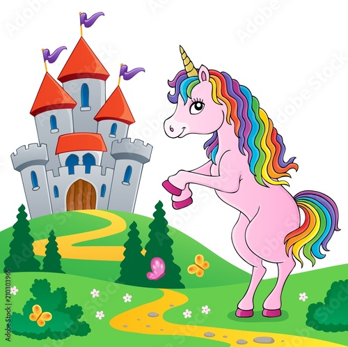 Poster Pony Standing unicorn theme image 6