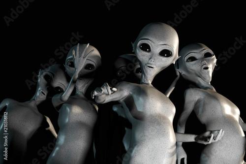 Photo sur Toile UFO aliens