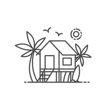 Beach House Vector Illustratio...