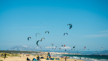 Kiters In Tarifa Beach