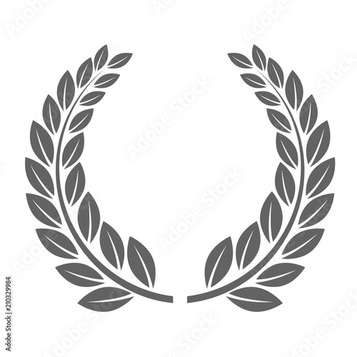 Fotografie, Obraz  Laureate wreath - glory laurel wreath symbol