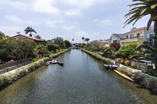 Historic Venice Canal Neighborhood In Los Angeles California.