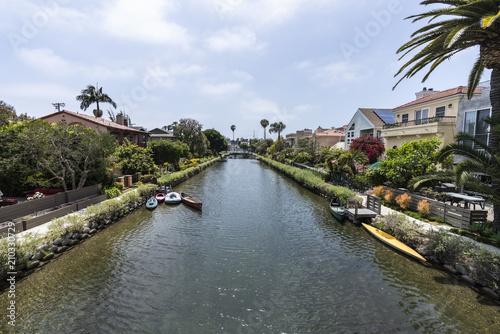 Obraz na plátne Historic Venice canal neighborhood in Los Angeles California.