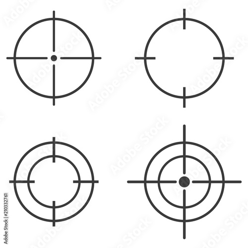 Shot on target icon sign - Buy this stock vector and explore
