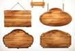 Wooden board, old wood vector set