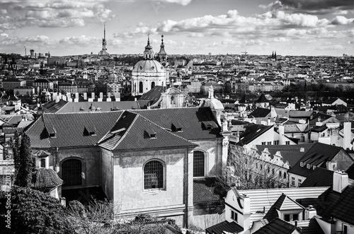 Plakat Piękne miasto Praga, Czechy, bezbarwny