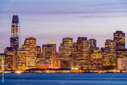 Keuken foto achterwand San Francisco San Francisco downtown skyline