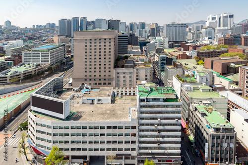 Zdjęcie XXL myeongdong Downtown cityscape in South Korea