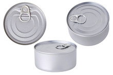 Tin Can With Pull Ring Isolate...