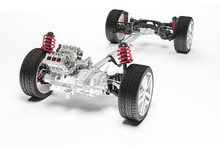 3d Car Chassis With Motor And ...