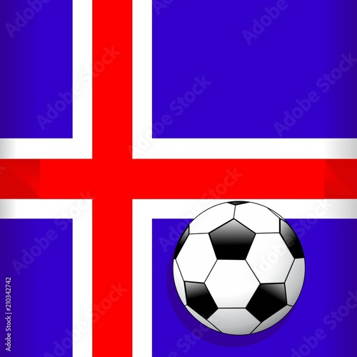 In de dag Draw Iceland Flag with Soccer Ball Football World Cup