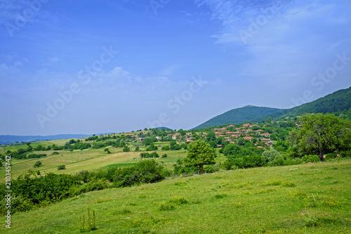 Old authentic village landscape 3