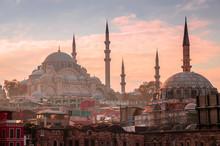 Suleymaniye Mosque In Istanbul...
