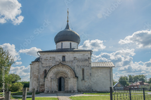 Spoed Foto op Canvas Bedehuis Golden Ring of Russia. In the territory of St. George's Cathedral in Yuryev-Polsky