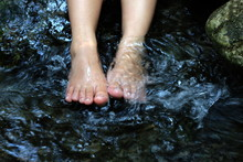 Foot Soak In The Water Stream ...