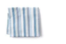 Kitchen Blue Towel On White Background.