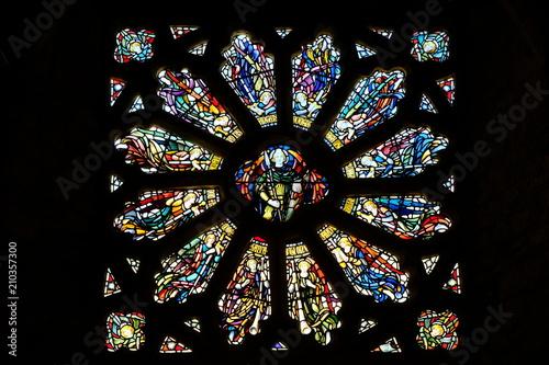 In de dag Stained window