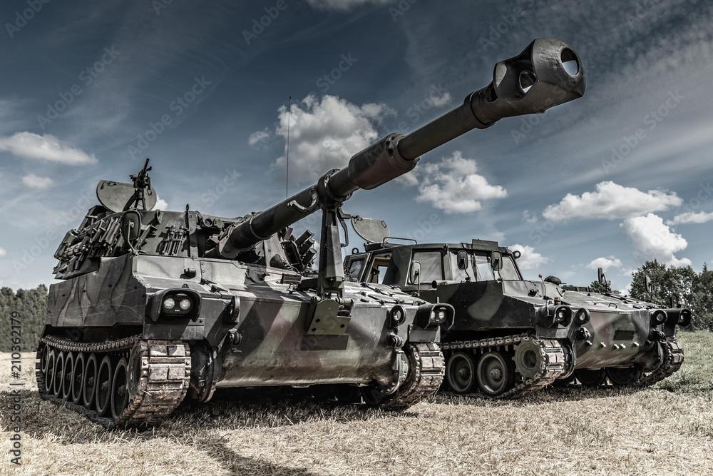 Fototapeta war machines on the battlefield