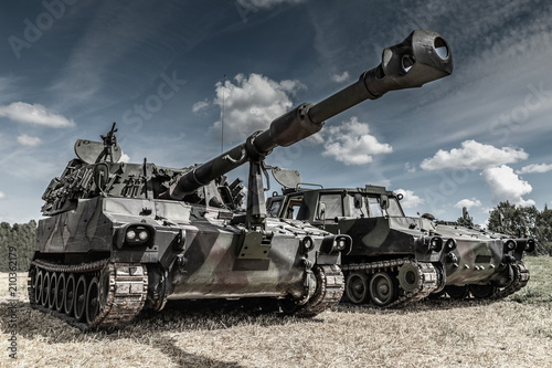 war machines on the battlefield