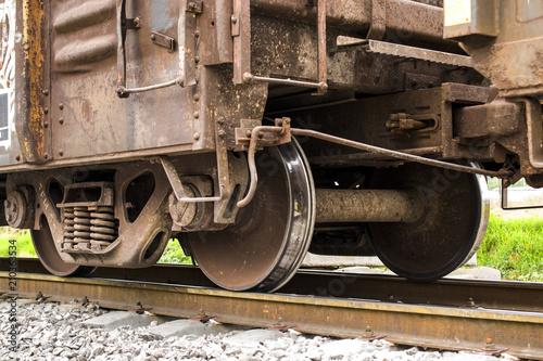 Fotografie, Obraz  detalle de vagón de ferrocarril
