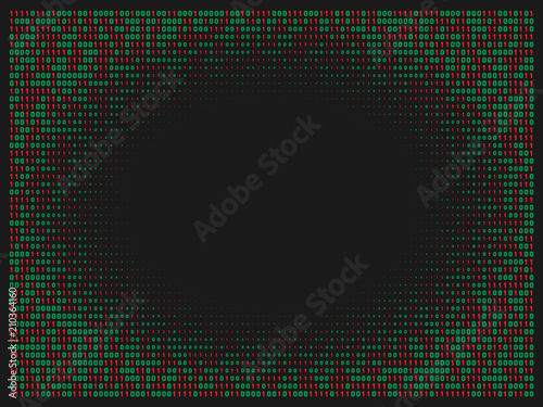 Streaming abstract binary code background  Data and