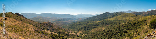 Panoramic view across the hills in Balagne region of Corsica Slika na platnu