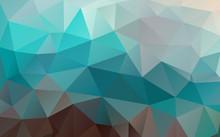 Flat Triangle Background. Geometric Shapes. . Colorful Mosaic Pattern.