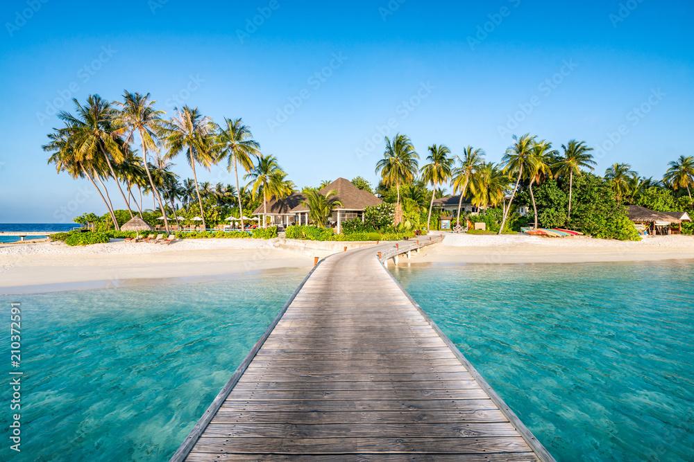 Fototapeta Einsame Insel in den Tropen