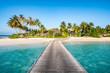 Einsame Insel in den Tropen