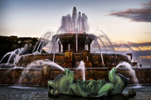 Buckingham Fountain At Twilight