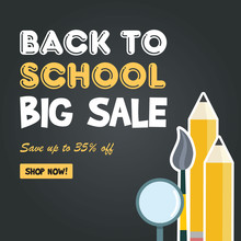 Back To School Sale Sign