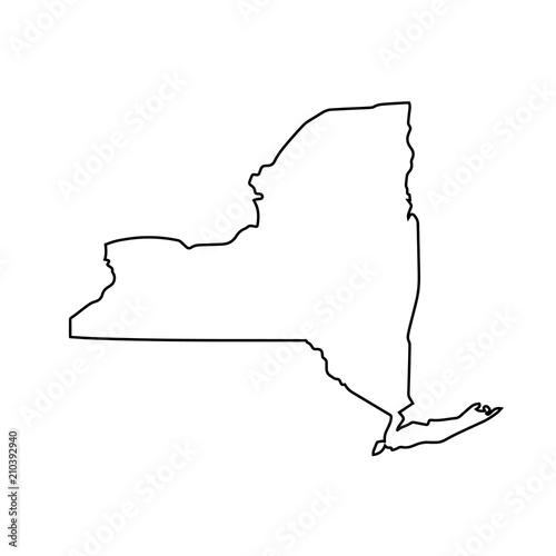 mapa stanu Nowy Jork. ilustracji wektorowych
