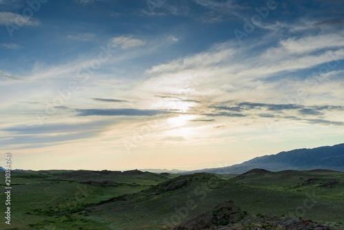 Staande foto Beige valley