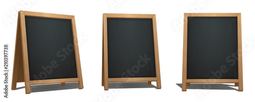 Brown A-Frame Chalkboard from different angles Tapéta, Fotótapéta