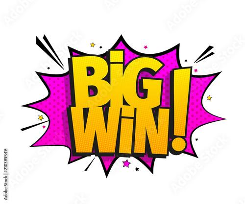 Fotografía  Big win message