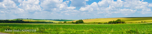 Wall Murals Blue sky panorama beautiful view landscape field