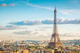 Fototapeta Wieża Eiffla - eiffel tour and Paris cityscape