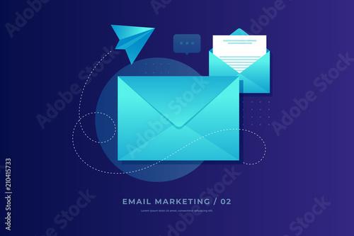 Fotografie, Obraz Mobile e-mail notification concept
