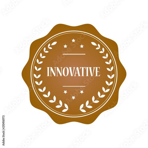 Fotografiet  Innovative stamp illustration design