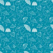 Seamless Pattern With Umbrella...