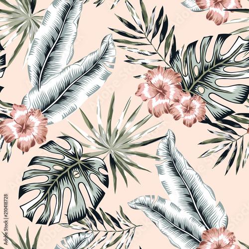 rozowy-hibiskus-i-banan-monstera-palm-pozostawia-rumieniec-tla-wektor-wzor-ilustracja-lisci-tropikalnej-dzungli-zielen-roslin-egzotycznych