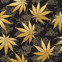 Cannabis Or Marijuana Leaves I...