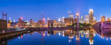 Minneapolis Skyline With Refl...