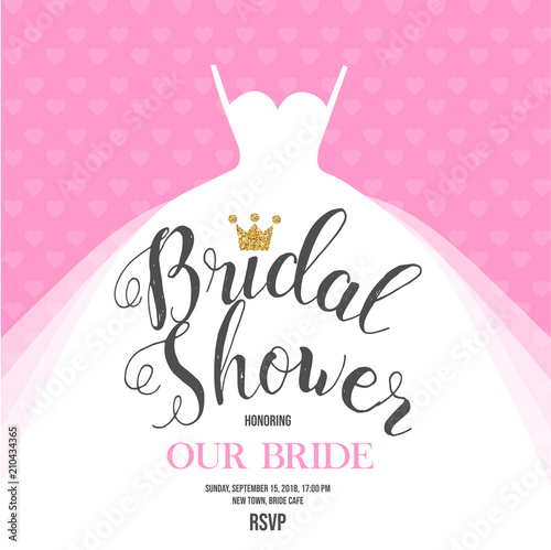 Fotomural Bridal Shower invite