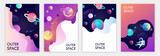 Fototapeta Kosmos - set of banner templates. universe. space trip. design. vector illustration