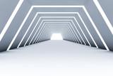 Fototapeta Perspektywa 3d - abstract 3d tunnel interior