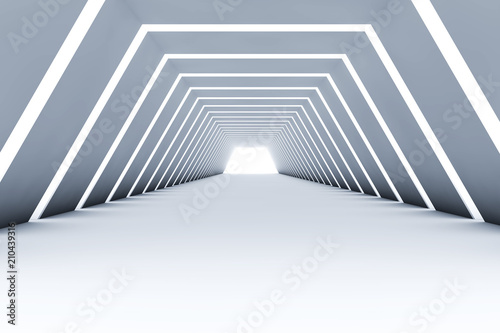 abstract 3d tunnel interior