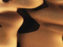 Aerial Of Sand Dunes In Low Su...