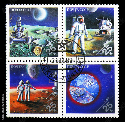Fotografia  Joint issue of Space research, Space achievements serie, circa 1989