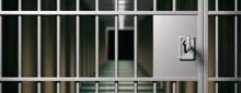 Prison Interior. Locked Door A...